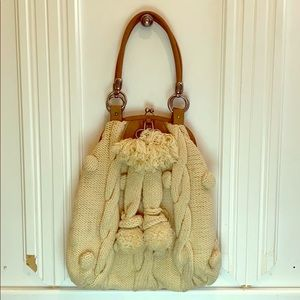 Tan Knit Juicy Couture Tote